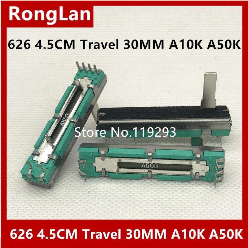 [BELLA] 426 45MM 4.5CM Travel 30MM Mixer Volume Slider Fader Double Potentiometer A10K A20K A50K A10KX2 A20KX2 A50KX2-10PCS/LOT