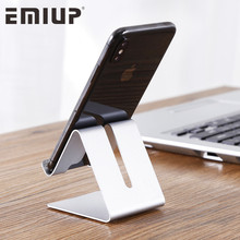 EMIUP Aluminum Metal Phone Holder Desktop Universal Non-slip Mobile Phone Stand Desk Hold for iPhone IPad Samsung Tablet