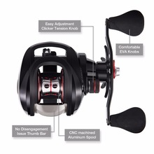 Piscifun Torrent Baitcasting Reel With Cover Bag 8.1kg Carbon Drag 7.1:1 Gear Ratio Saltwater Freshwater Baitcaster Fishing Reel