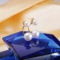 Prata esterlina Brincos de Pérola, 100% Natural pearl earring Para Mulheres Engagement Brinco Branco Rosa Roxo