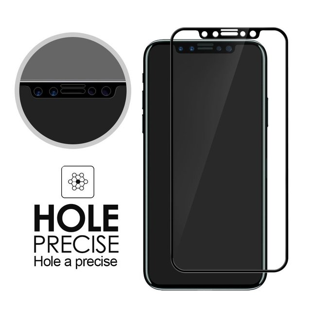 big sale 0a23c edb47 US $1.99  2.5D 9H for iphone X full 3D cover tempered glass for iphone X 4D  Screen Protector Film For iphone X Tempered Glass-in Phone Screen ...