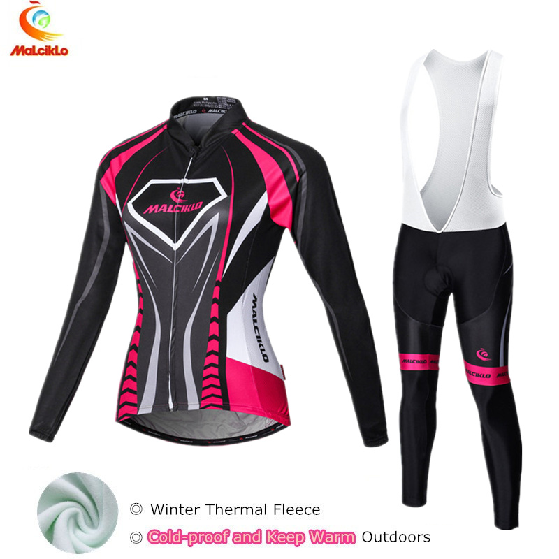 Ropa Ciclismo Mujer Invierno Thermal Fleece Cycling Jersey Sets For Womens 2017 Winter Cycling Clothing Bike Skinsuit
