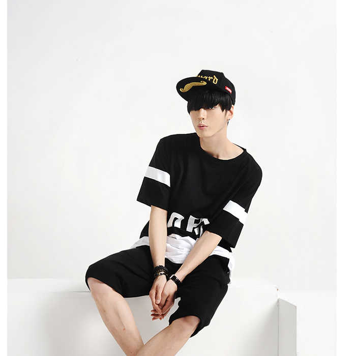 a76d835e ... Summer Fashion Korean GD Style Men's T-Shirts Black and White Color  Lord Printed Male