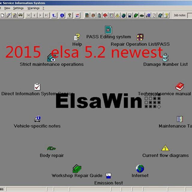 Elsawin 5,2 ElsaWin 5,2 selbstreparatur software für Au di/VW/SKODA ...