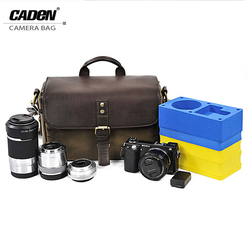 CADeN Waterproof Canvas Storage Vintage Camera Bags Sling Shoulder Video Photo Digital Carry Case for DSLR Canon Olympus Nikon caden camera bag sling shoulder bags photo video soft dslr pack case travel camera cases for dslr canon nikon sony f1 f3