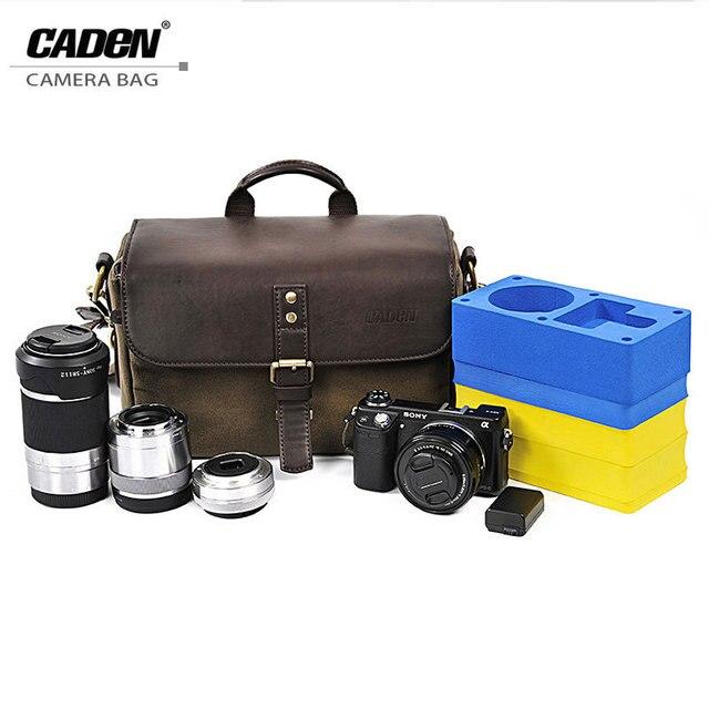 Caden водонепроницаемый холст хранения сумки камеры слинг плеча видео цифровой фото чехол для dslr sony canon olympus nikon p1