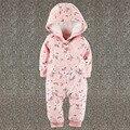 2017 Original Novo Da Menina Da Criança Menino de Algodão uma peça Footies Pijama Camisola Sleepwear Nightclothing 3 M 6 M 9 M 12 M 24 M 3 T