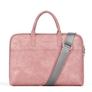 Image 1 - Fashion PU waterproof Scratch resistant Laptop Shoulder Bag 13 14 15.6 inch for MacBook Air Notebook Shoulder Carry Case