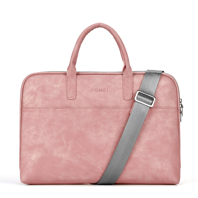 Fashion PU waterproof Scratch resistant Laptop Shoulder Bag 13 14 15.6 inch for MacBook Air Notebook Shoulder Carry Case