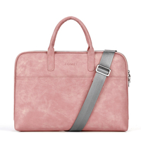 Fashion PU waterproof Scratch resistant Laptop Shoulder Bag 13 14 15.6 inch for MacBook Air Notebook Shoulder Carry Case