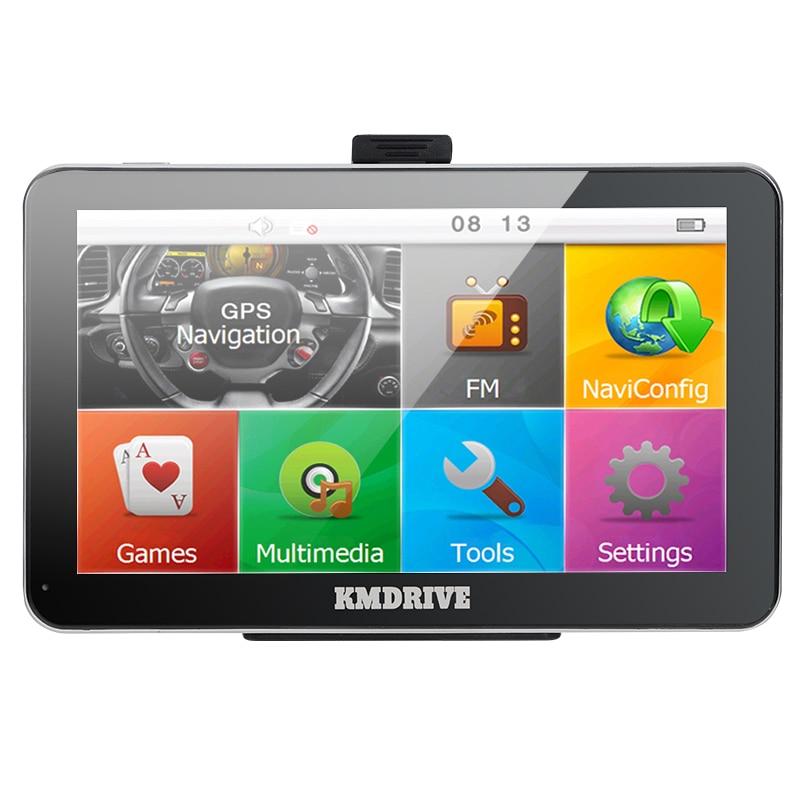 KMDRIVE New 7 inch 4GB Car gps navigation 800Mhz CPU FM Transmitter Sat Nav Bundle free