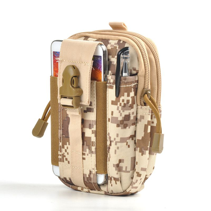 Waterproof Military D30 1000D Waist Bag Men Portable Water Resistant Phone Wallet Travel Casual Army Waist Pack