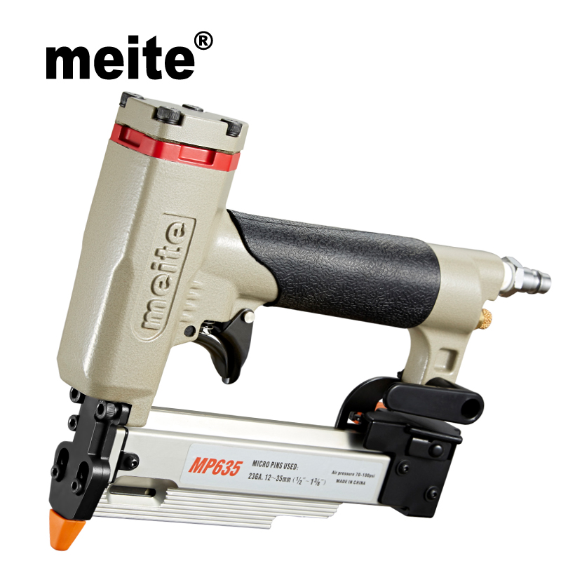 Meite MP635 23 Gauge 1 3 8 air Micro pinner nailer gun for 12 35mm diameter