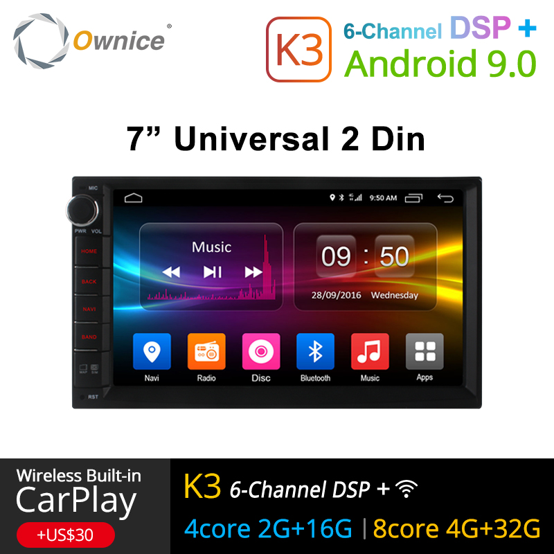 Ownice K1 K2 K3 Android 9.0 Octa Núcleo 2 din Universal Para Nissan GPS Navi Radio Stereo Audio Player (sem DVD) build-in 4G Moudule