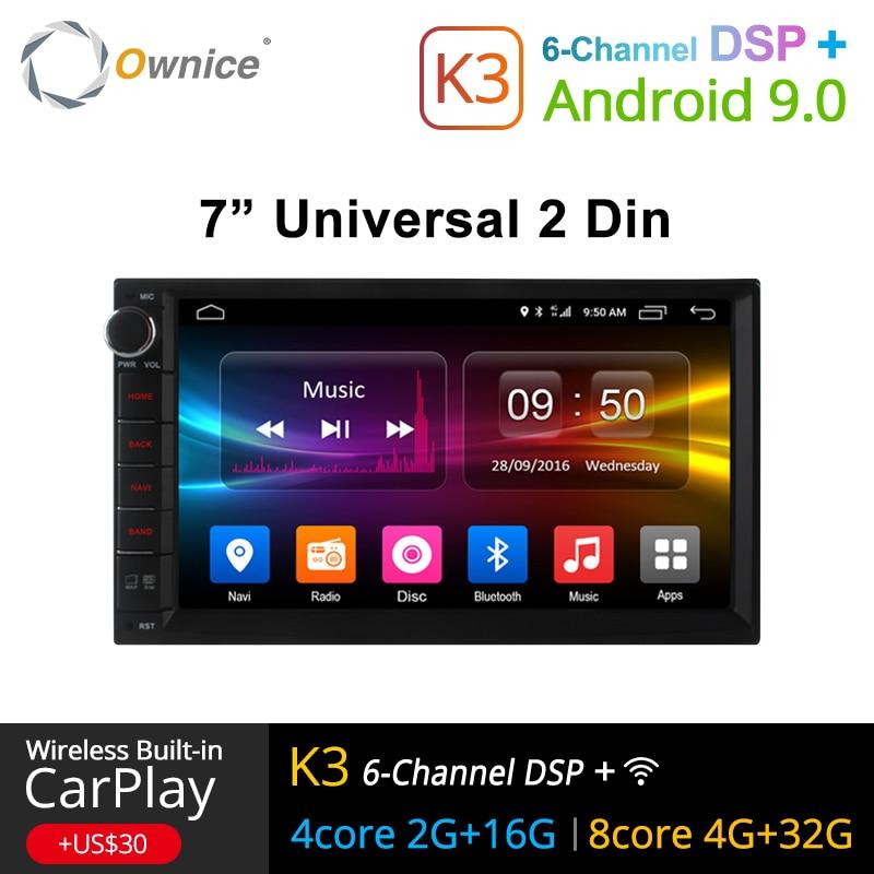 Ownice K1 K2 K3 Android 9.0 Octa Núcleo 2 din Universal Para Nissan GPS Navi Radio Stereo Audio Player (sem DVD) build-in 4G Moudule