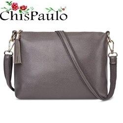 حقائب CHISPAULO النسائية لعام 2020 ، حقائب ذات علامة تجارية أنيقة عالية الجودة ، حقائب من الجلد الطبيعي للنساء ، حقيبة كروس ساعي البريد X59