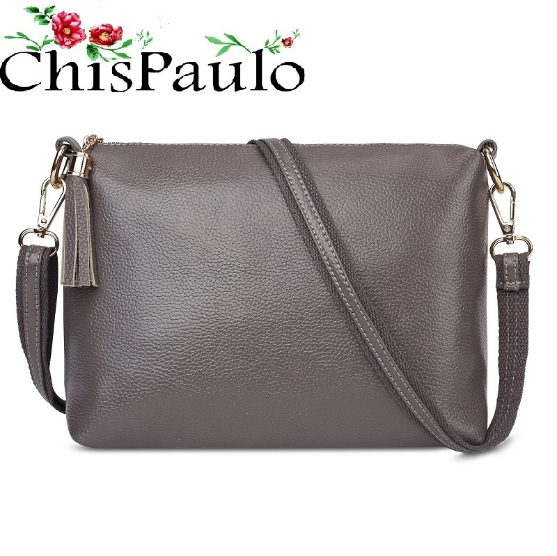 CHISPAULO Woman Bag 2017 Brand Designer Handbags High Quality Fashion Genuine Leather Bags For Women Messenger Crossbody Bag X59 chispaulo women bags brand 2017 designer handbags high quality cowhide women s genuine leather handbags women messenger bag t235