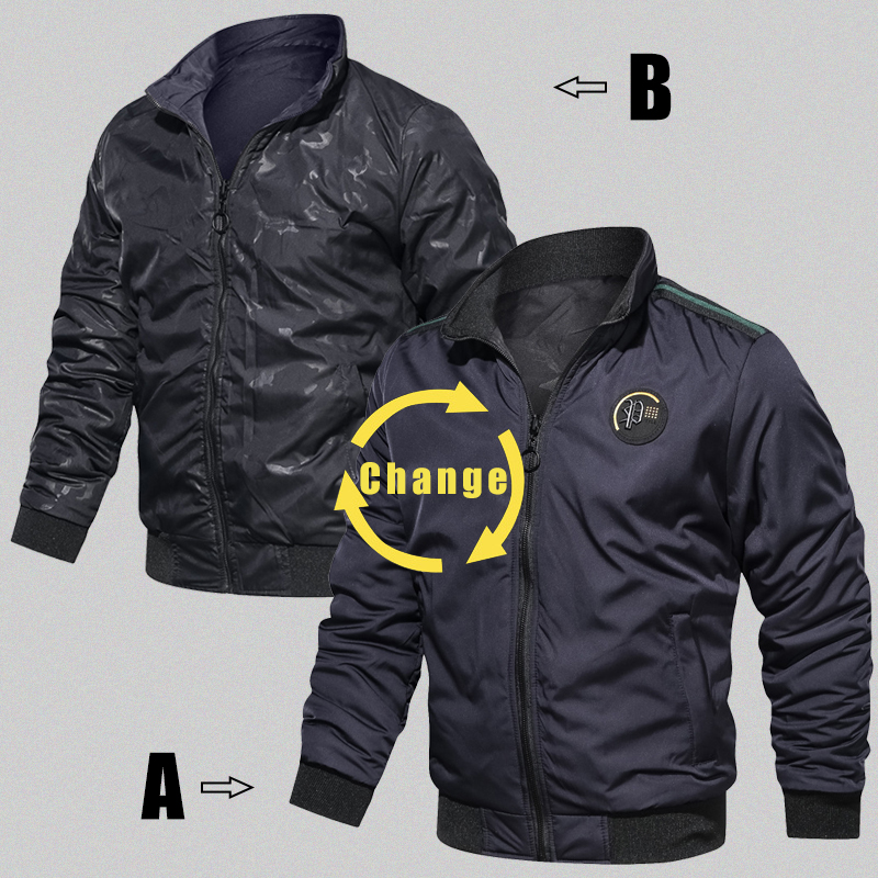 HTB19eOPXuH2gK0jSZFEq6AqMpXaq LBL Casual Bomber Jacket Men Slim Fit Autumn Winter Double Side Mens Military Jackets Outwear Coat Man Sportswear Tracksuit 2019