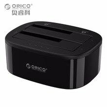 ORICO USB 3.0 zu SATA Dual-Bay Festplatte Docking Station für 2,5/3,5 zoll HDD/SSD mit Offline-clone Funktion [UASP Protokoll]