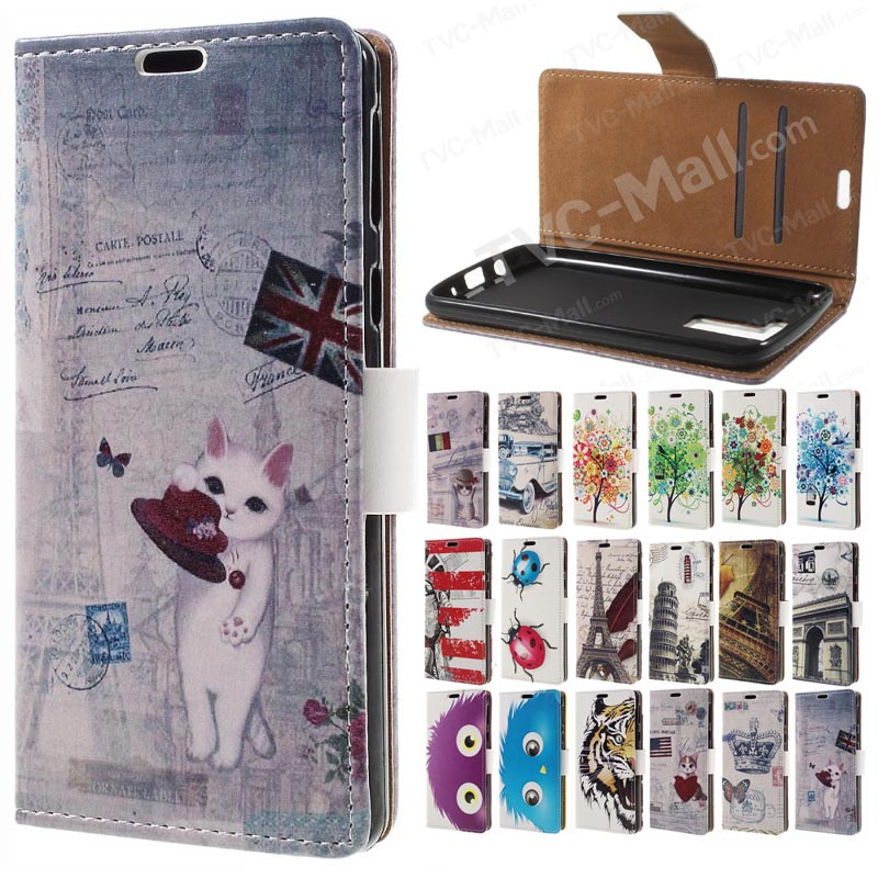 beautiful the pattern PU Leather Wallet Flip Stand Cover Cas