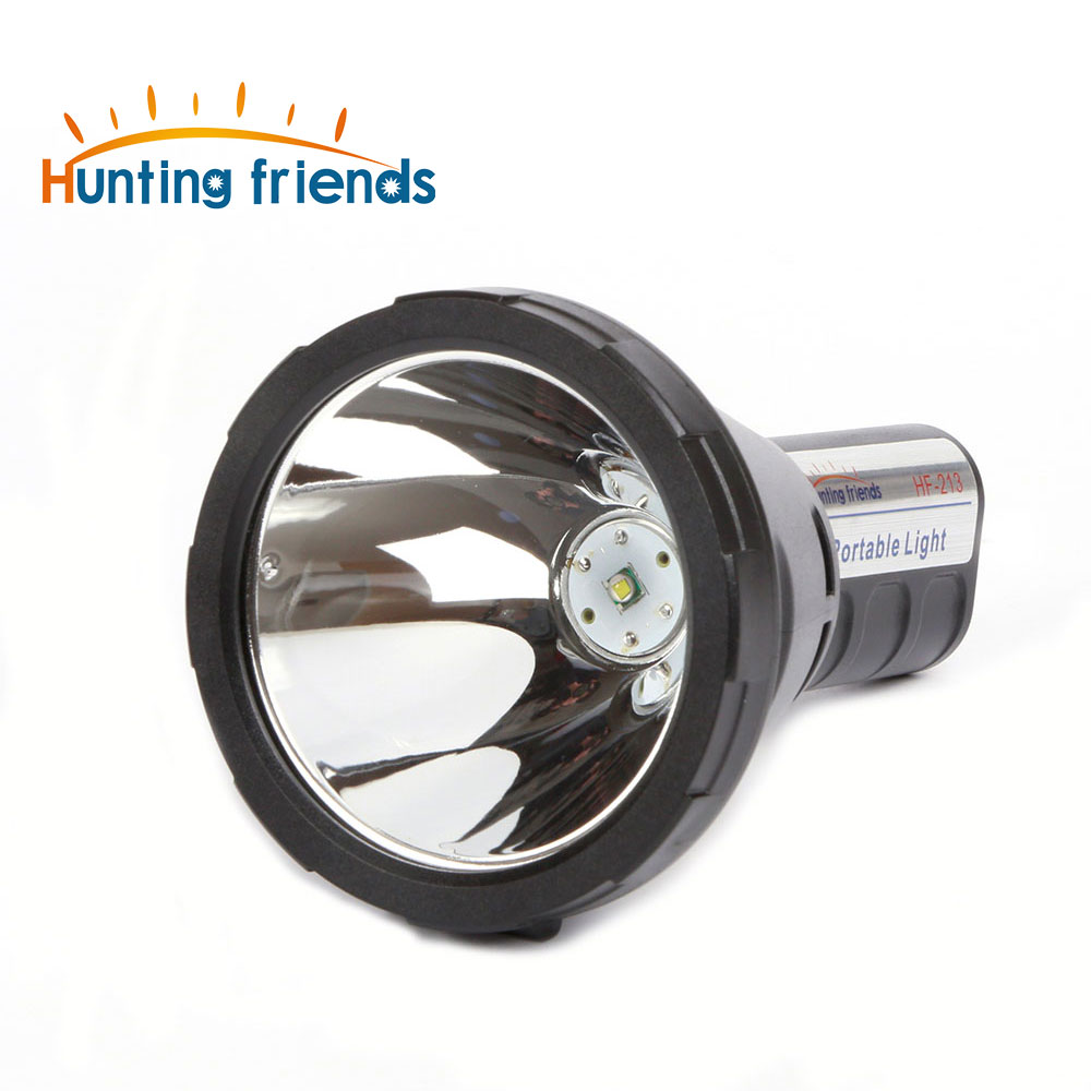Hunting Friends Super Bright Portable Flashlight Waterproof LED Spotlight Torch Built-in 2x18650 Rechargeable Lithium Batteries