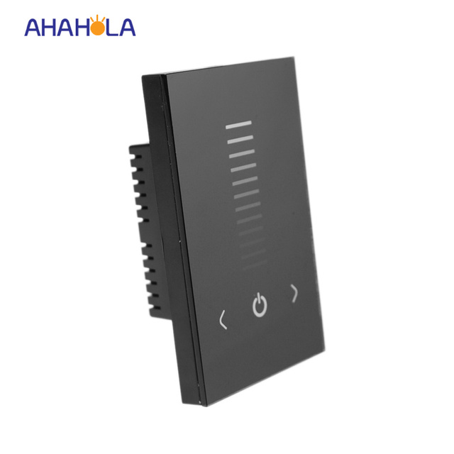 ac 90 230v wall touch switch dimmer led 220v lights output 0 10v dimmer brightness dimmer 1. Black Bedroom Furniture Sets. Home Design Ideas