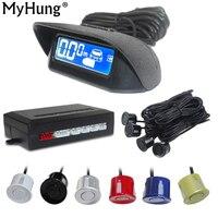 4 Sensors LCD Parking Sensors Display Monitor Rearview Car Parking Assistance Backup Radar System Reverse Radar