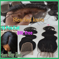 15 pcs/lot Wholesale Price 7A Cheap Body Wave Virgin Brazilian Lace Closure Bleached knots Human Hair Closures DHL Free Shipping