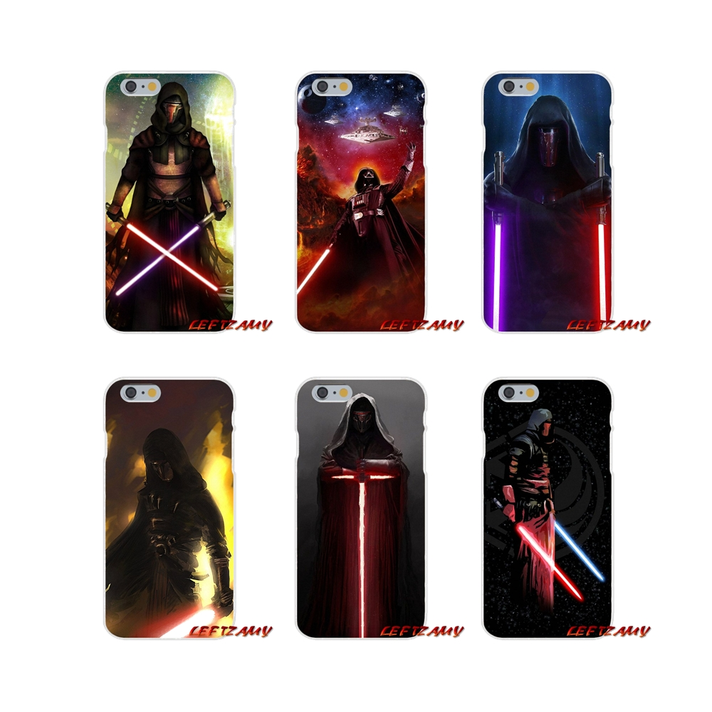 <font><b>Star</b></font> <font><b>Wars</b></font> Darth Revan Sith Warrior Transparent TPU Cover Bag For <font><b>iPhone</b></font> X XR XS MAX 4 4S 5 5S 5C SE 6 6S <font><b>7</b></font> 8 Plus ipod touch 5 6 image