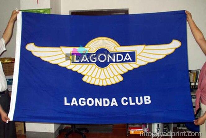 Por encargo Flying poliéster Telas bandera con ganchos de plástico ...