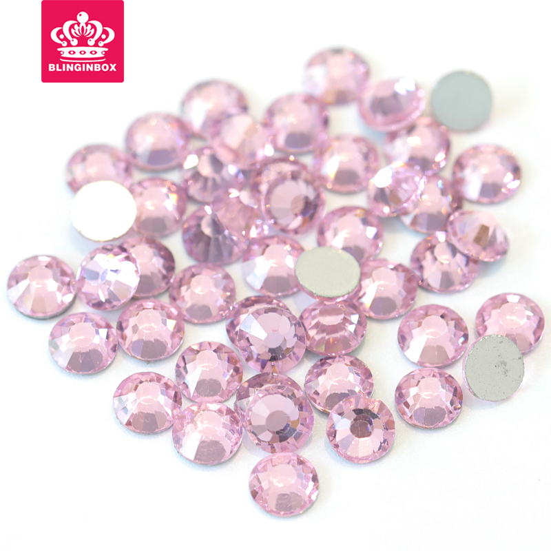 All Sizes Pink Color Nail Art Stones Flatback Non HotFix Rhinestones Need  Glue On For DIY Nails Decorations Y0710-in Rhinestones from Home   Garden  on ... 1bbd3fb812a0