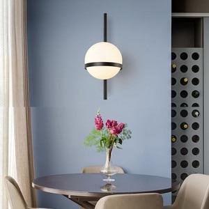 Image 4 - BEIAIDI Vintage Industrial Glass Globe Wall Light Nordic Moon Planet Wall Lamp Bedroom Bedside Sconce Bathroom Mirror Headlight
