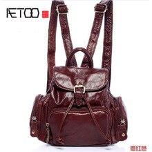 Aetoo новый небольшой рюкзак повседневные модные женские туфли кожаная сумка рюкзак