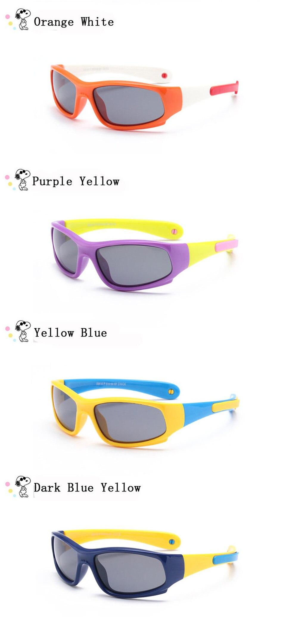 No easily broken Kids TR90 Polarized Sunglasses Children Safety Brand Glasses Flexible Rubber Oculos Infantil (20)