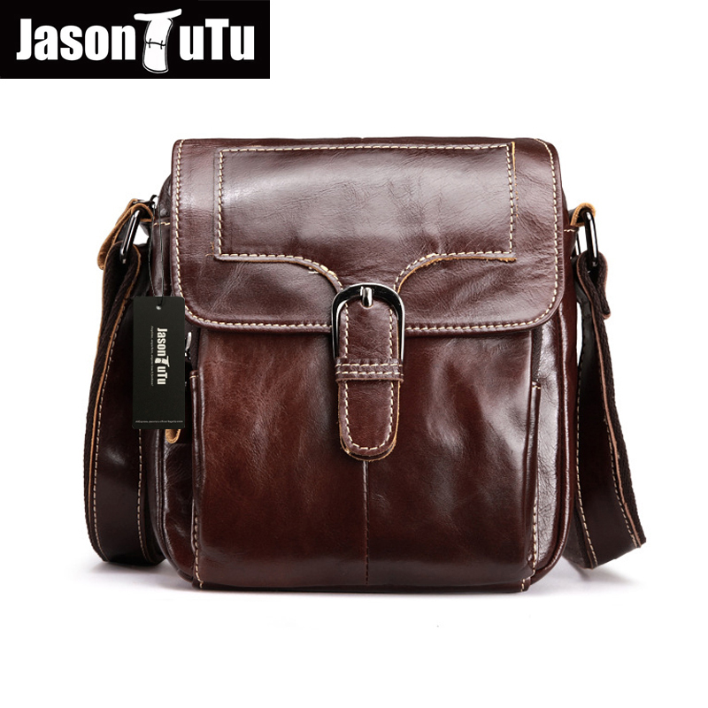 ФОТО JASON TUTU Casual Genuine Leather Man Messenger Bags Cowhide Leather Male Cross Body Bag Casual small shoulder bag HN42