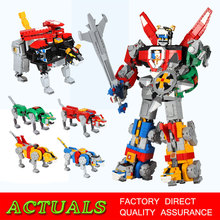 The 2600PCS Movie Series Combination Robot Voltron Model Set Building Blocks Bricks kids Toys Boy Gifts