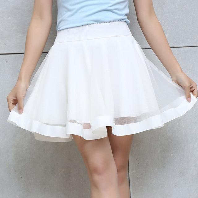 Aliexpress.com : Buy Women Tulle Skirt White High waist mini ...