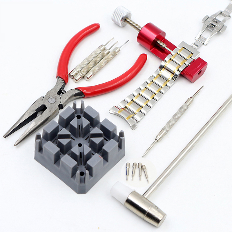HOT Sale 16PCS High Quality Watch Repair Tool Watch Clock Hours Opener Tool Kit Repair Change Cell Pin Remover Fixed Tools watch repair tool kit watch tools 9 5cm 4 5cm pins puller watchmaker tools watch hand remover tool parts accessories