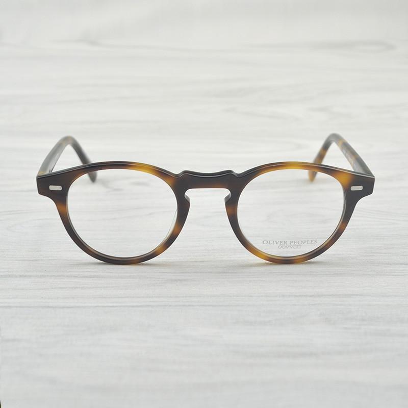 a944684e2b OV5186 Handmade Real Acetate Frames Cat Eye Glasses Gregory Peck Oliver  Peoples Women Optical Demi Prescription ...