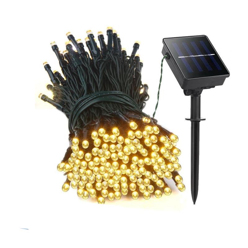 22M 200 LED solar membawa lampu tali Garland Krismas Lampu Suria untuk pernikahan pesta Taman perkahwinan Luar