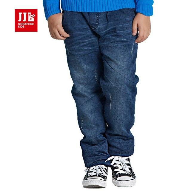 Зимние мальчики джинсы флисовой подкладкой дети теплые брюки детские брюки детей брюки детская одежда дети джинсы полная длина 2016