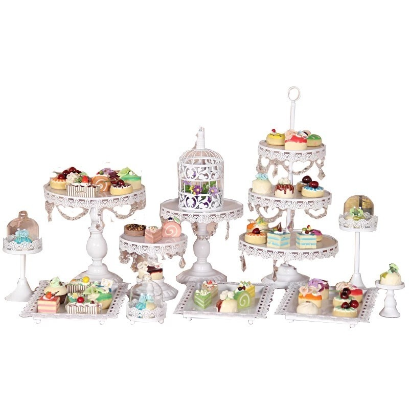Ślub deser tacy ciasto stoisko Cupcake Pan strona dostaw 4 13ocs, stół ciasto darmowa wysyłka w Stojaki od Dom i ogród na  Grupa 1