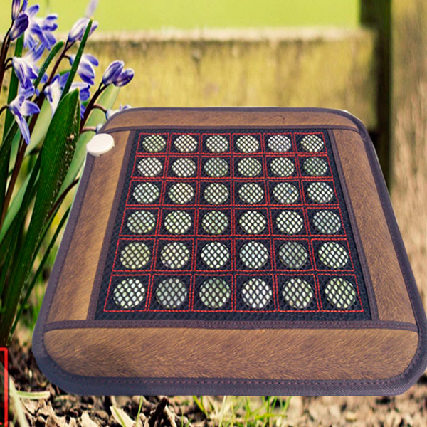 Good Quality! Natural Jade Mat Tourmaline Heat Cushion Body Health Care Pad AC220V 45*45CM Free Shipping цены