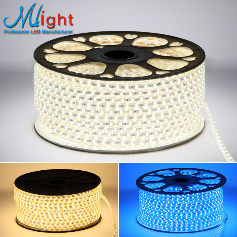 promo code 6eb00 aabf8 100 Meters 220v 3014SMD Flexible LED strip Light Water proof IP44 Tape for  Dining room Kitchen decoration Rope Light wholesale-in LED Strips from ...