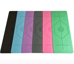 Non-slip Body Position Line Yoga Mat For Fitness Natural Rubber Sports Yoga Mat Multifunction Also For Gym Pilates 1830*660*5mm
