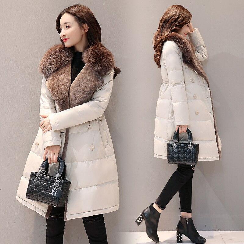 Warm Coat Down-Jacket Women Parka Outwear Thick Slim Winter