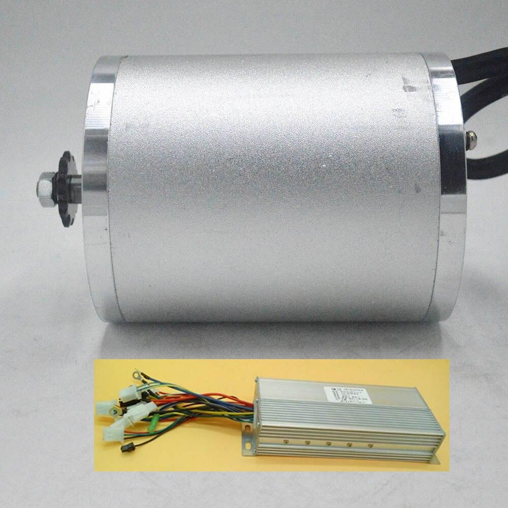 Kit de conversión de Motor de bicicleta eléctrica, 48V, 60V, 2000W, con controlador de motor sin escobillas para bicicleta eléctrica/Scooter/Triciclo