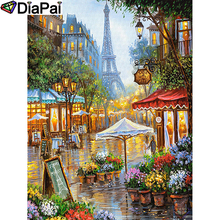 DIAPAI 5D DIY Diamond Painting 100% Full Square/Round Drill Oil painting tower Diamond Embroidery Cross Stitch 3D Decor A21642 diapai 5d diy diamond painting 100