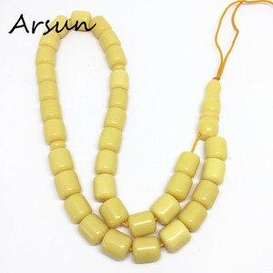 Image 3 - 100% オリジナル樹脂 33 ビーズ黄色イスラム教徒数珠イスラム Tasbih アッラーの祈りロザリオ Tesbih イスラム Misbaha