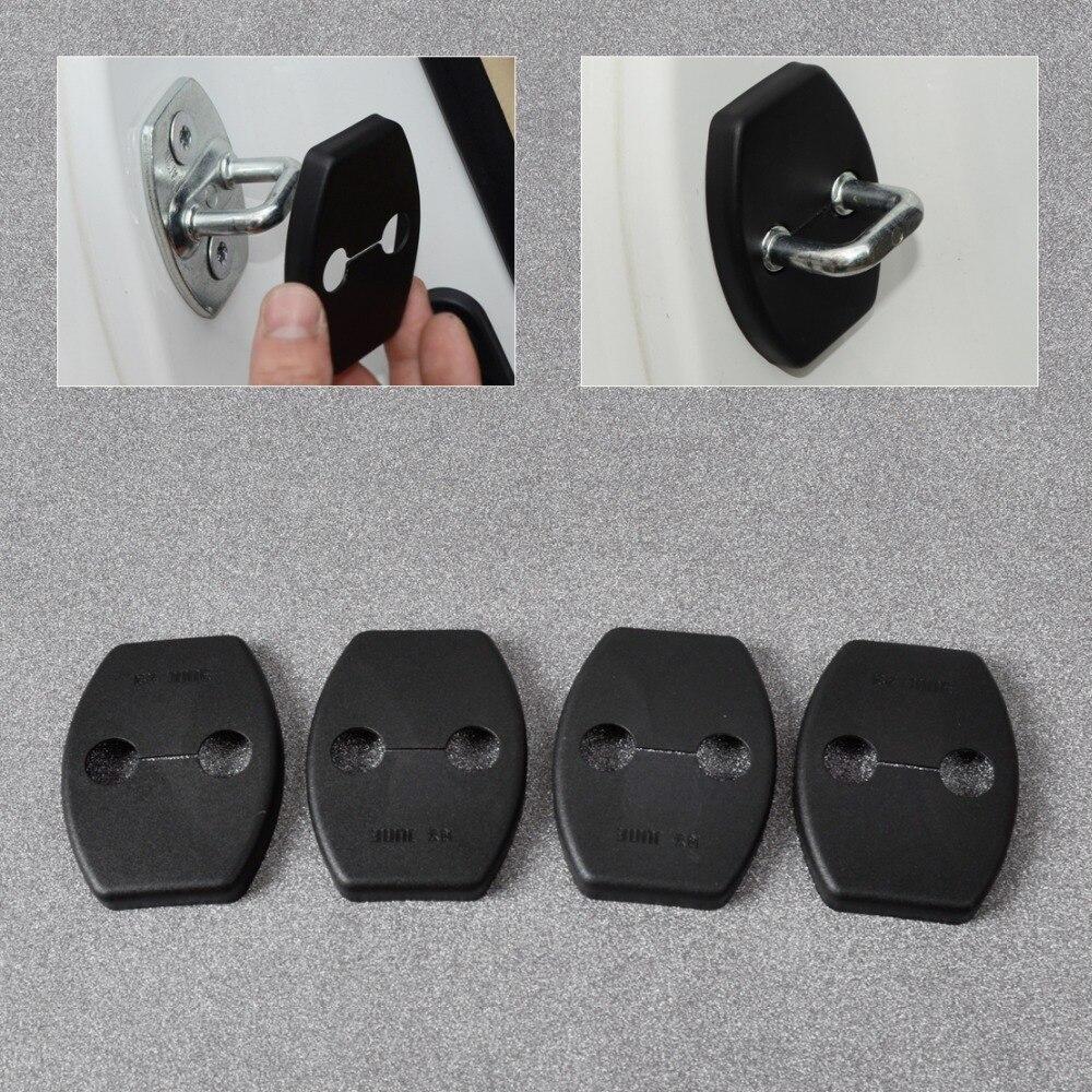 DWCX 4x Car Door Striker Cover Lock Protector Case for Toyota Highlander FJ Cruiser Alphard Previa Sequoia Yaris 2012 2013 2014+